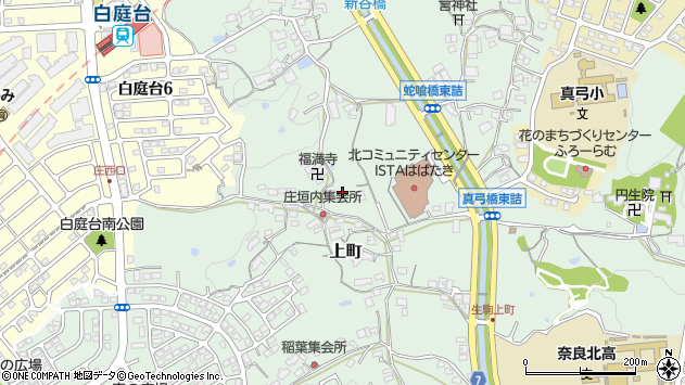 〒630-0131 奈良県生駒市上町の地図