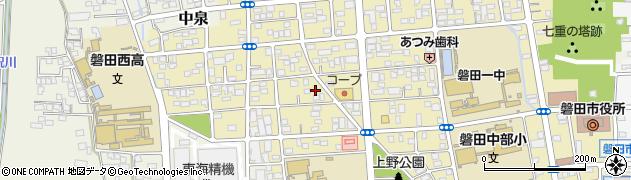 静岡県磐田市坂上町周辺の地図