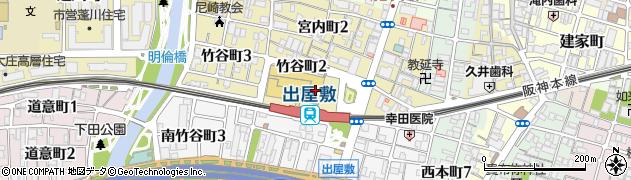 兵庫県尼崎市竹谷町2丁目周辺の地図