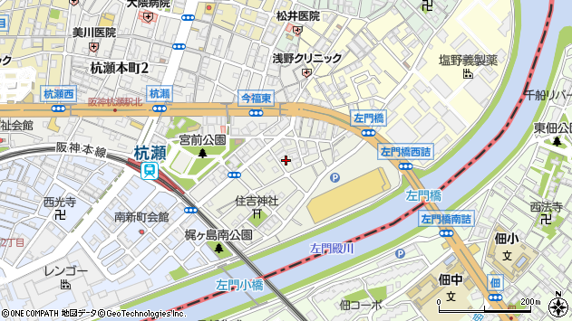〒660-0821 兵庫県尼崎市梶ケ島の地図