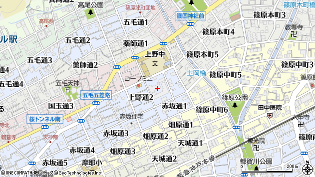 〒657-0817 兵庫県神戸市灘区上野通の地図