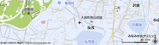 愛知県豊橋市大岩町(黒下)周辺の地図