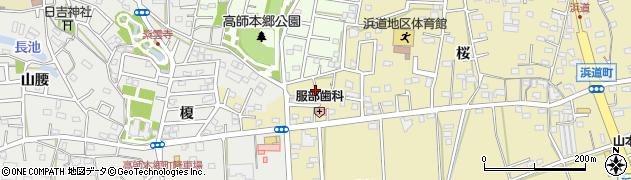 愛知県豊橋市浜道町(薮合)周辺の地図