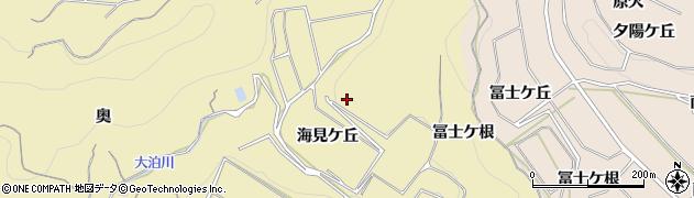 愛知県南知多町(知多郡)山海(海見ケ丘)周辺の地図