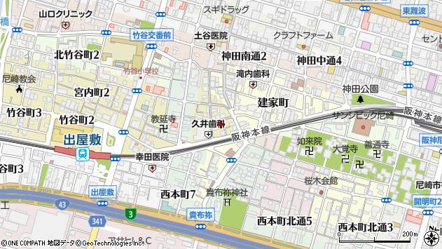 〒660-0872 兵庫県尼崎市玄番北之町の地図