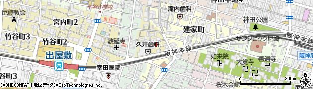 兵庫県尼崎市玄番北之町周辺の地図
