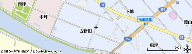 愛知県豊橋市磯辺下地町周辺の地図