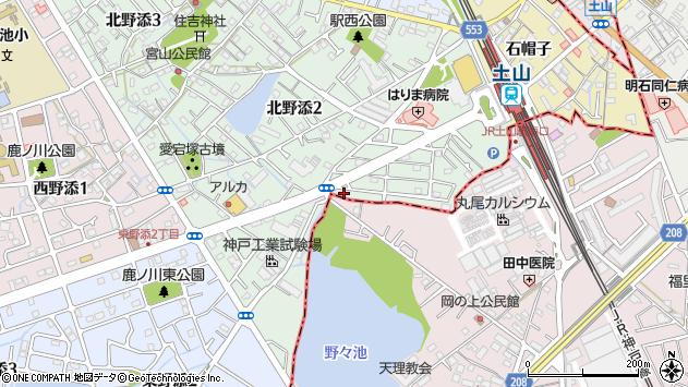 〒675-0158 兵庫県加古郡播磨町北野添の地図