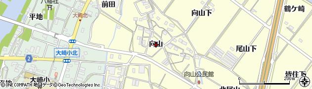 愛知県豊橋市船渡町(向山)周辺の地図