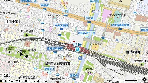 〒660-0884 兵庫県尼崎市神田中通の地図
