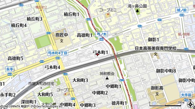 〒657-0026 兵庫県神戸市灘区弓木町の地図