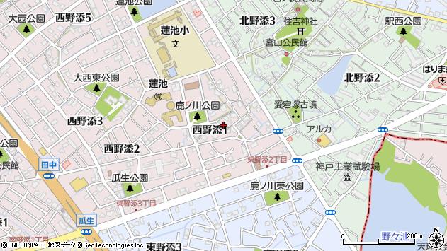 〒675-0160 兵庫県加古郡播磨町西野添の地図