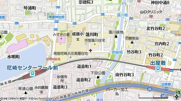 〒660-0081 兵庫県尼崎市蓬川町の地図