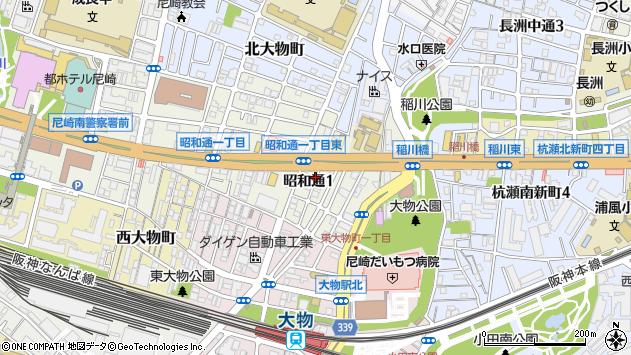 〒660-0881 兵庫県尼崎市昭和通の地図