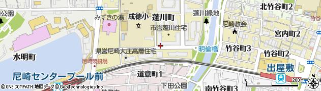 兵庫県尼崎市蓬川町周辺の地図