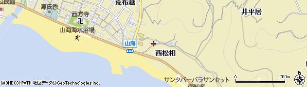 愛知県南知多町(知多郡)山海(西松相)周辺の地図