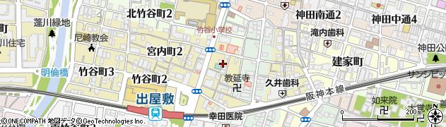 兵庫県尼崎市宮内町1丁目周辺の地図