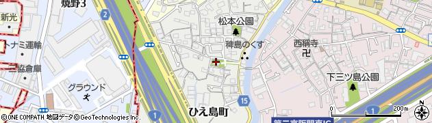 堤根神社周辺の地図
