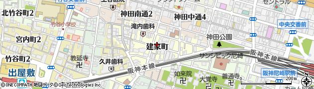 兵庫県尼崎市建家町周辺の地図