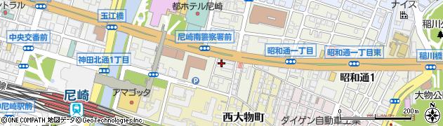 兵庫県尼崎市昭和通2丁目周辺の地図