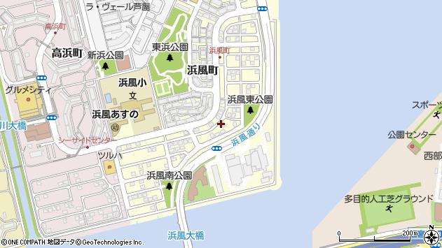 〒659-0032 兵庫県芦屋市浜風町の地図