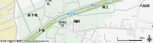愛知県豊橋市高田町(高田)周辺の地図