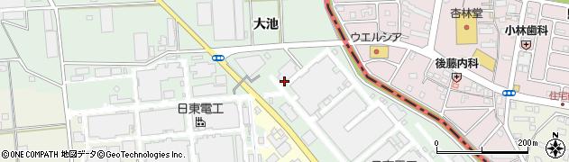 愛知県豊橋市中原町(一町田)周辺の地図