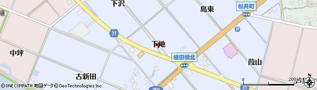 愛知県豊橋市磯辺下地町(下地)周辺の地図