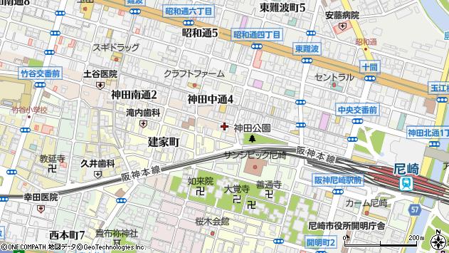 〒660-0885 兵庫県尼崎市神田南通の地図