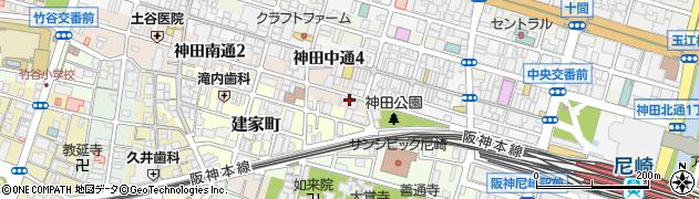 兵庫県尼崎市神田南通1丁目周辺の地図