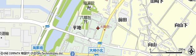 愛知県豊橋市大崎町(東里中)周辺の地図