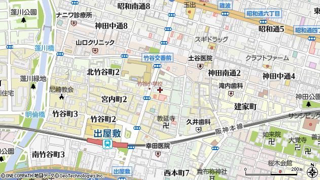 〒660-0878 兵庫県尼崎市北竹谷町の地図