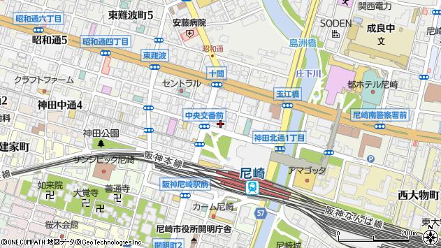 〒660-0883 兵庫県尼崎市神田北通の地図