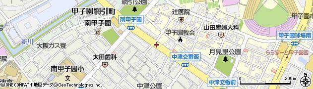 南甲子園東周辺の地図