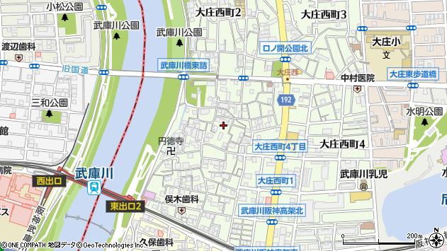 〒660-0077 兵庫県尼崎市大庄西町の地図