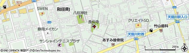 長伝寺周辺の地図