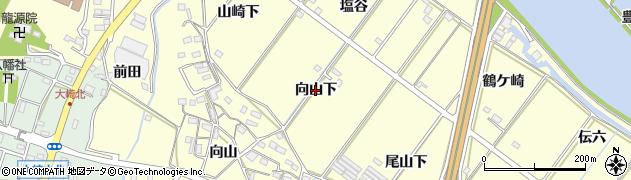 愛知県豊橋市船渡町(向山下)周辺の地図
