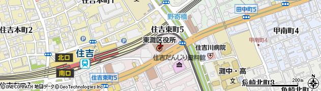 兵庫県神戸市東灘区周辺の地図