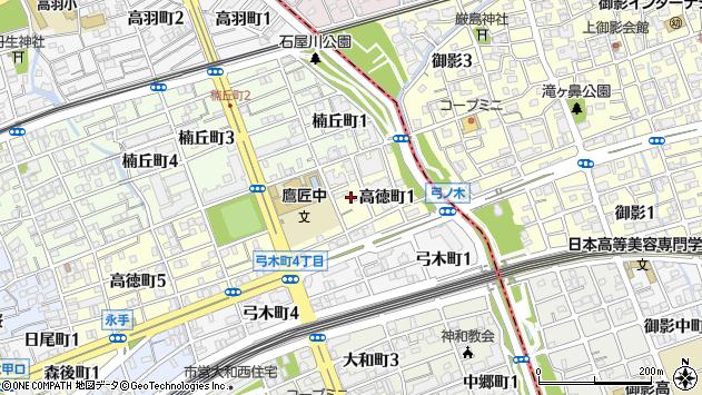 〒657-0025 兵庫県神戸市灘区高徳町の地図