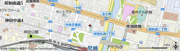 兵庫県尼崎市昭和南通3丁目周辺の地図