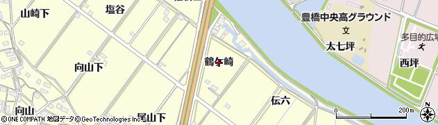 愛知県豊橋市船渡町(鶴ケ崎)周辺の地図