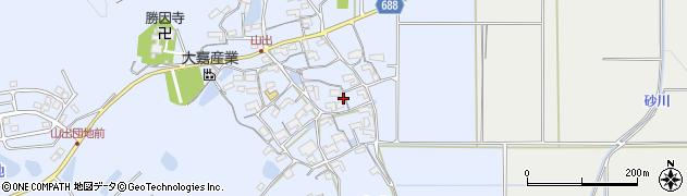 三重県伊賀市山出周辺の地図