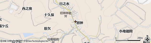 愛知県南知多町(知多郡)豊浜(初神)周辺の地図