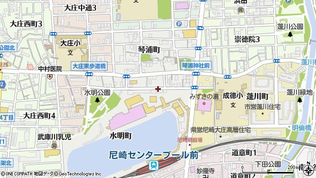 〒660-0082 兵庫県尼崎市水明町の地図