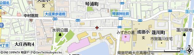 兵庫県尼崎市水明町周辺の地図