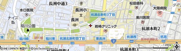 兵庫県尼崎市杭瀬北新町4丁目周辺の地図