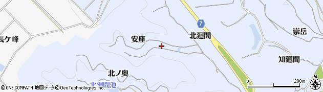 愛知県南知多町(知多郡)大井(安座)周辺の地図