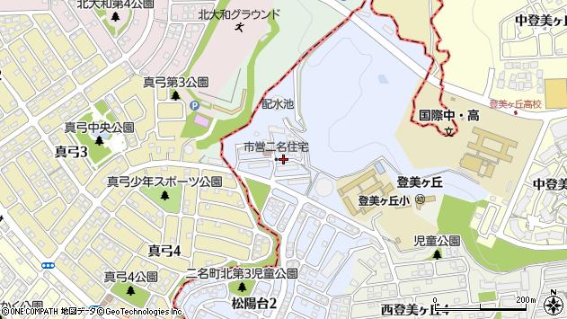 〒631-0007 奈良県奈良市松陽台の地図