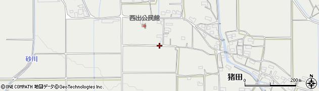 三重県伊賀市猪田周辺の地図
