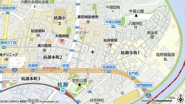 〒660-0814 兵庫県尼崎市杭瀬本町の地図
